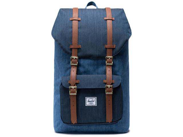 Herschel Little America Backpack 25L, faded denim/indigo denim